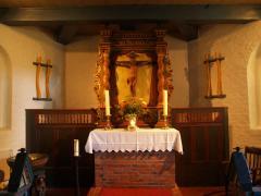 Der Altar aus dem Jahr 1857, seit 1931 in unserer Kirche