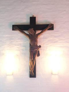 Die Christusfigur an der Südwand ist das ältestes Kunstwerk aus dem 16.Jahrhundert