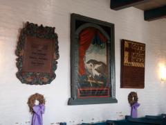 Das ehemalige Altarbild mit dem Pelikan-Motiv möchte an den Opfertod Jesu erinnern.