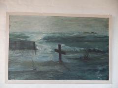 Dieses  Gemälde entstand nach einem Foto von Pastor Bernhard Speck aus dem Jahr 1976